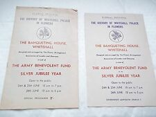 The History Of Whitehall Palace In Flowers programme & leaflet- Army Benevolent+