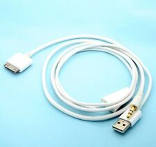 Dock to AUX 3.5mm Car Audio Cable with USB Port for iPod 3 Touch iPhone 4S white