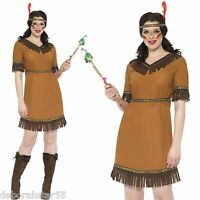 Womens Indian Fancy Dress Ladies Cowboy Costume 3 Sizes UK 8-18 Smiffys