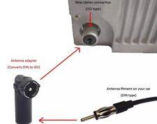 Kfz Auto-Radio Antenne-Adapter DIN-Kupplung Buchse ISO-Stecker Winkel    NEU
