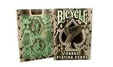 Rare Bicycle Snake Deck Playing Cards - Cobra Skin Back Design Black Mint Green