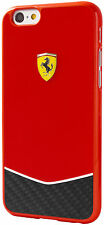 "ORIGINALE Ferrari Scuderia Carbonio Custodia Rigida per iPhone 6 6S Plus 5.5 ""ROSSO"