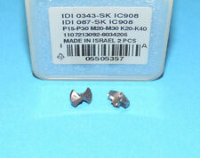 """ISCAR IDI 0343 SK IC908 Carbide Drill Tip Inserts (0.343"""" / 8.7mm) * 2 PIECES *"""