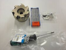 "3"" Korloy AMCA4300HS Indexable Face Mill Kit APMT 1806 Carbide Inserts 227SO"
