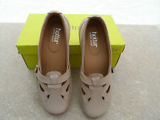 HOTTER SOFT BEIGE SLIP ON LEATHER NIRVANNA FLAT SHOES SIZE 5.5 NEW IN BOX