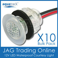 10 x WHITE LED LIVEWELL BAIT TANK LIGHTS Courtesy/Stair/Boat/Caravan/Cabin Lamps