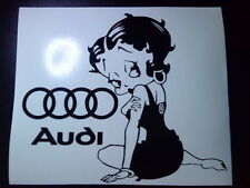 Betty Boop audi rings logo girls vinyl car sticker wall art fun decal graphics