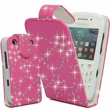 Bling Glitter Crystal Diamond Leather Flip Case cover for For Blackberry Phones