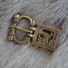 Viking Wold Brass Belt Buckle - Ideal For LARP Or Re-Enactment
