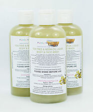 1bottle Tea Tree & Neem Oil Liquid Body & Face Wash 100% Natural SLS Free 250ml