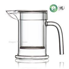 théière en verre clair avec couvercle tasse et infuseur thé Gongfu thé 230ml 7,8