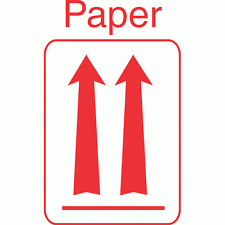 LR06 DOT Approved Red Up Arrow Orientation Label Paper (Roll of 500 Labels)