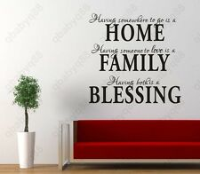 home family blessing Wall Quotes decal Removable stickers decor Vinyl DIY art
