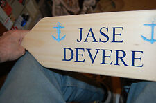 PERSONALIZED CARVED WOOD SIGN- PLAQUE - PADDLE -  OAR