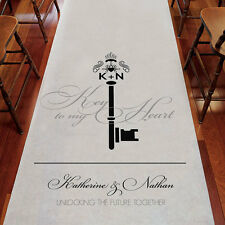 Key Monogram Personalized Wedding Ceremony Aisle Runner Q26919