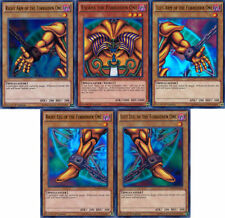 EXODIA THE FORBIDDEN ONE + Left Right Arm Leg (Set of all 5) LDK2 1st - Yu-Gi-Oh
