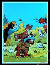 YAKARI ours saute mouton ourson AFFICHE forêt chambre poster indien pour enfant