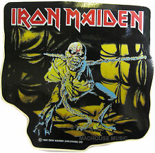 IRON MAIDEN Sticker Piece Of Mind SHAPED OFFICIAL Iron Maiden Holdings 1983 Eddi