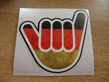 No Worries Hand - German flag - sticker bomb / euro / dub style - 100mm sticker