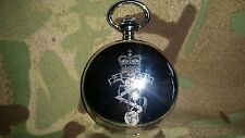 REME Pocket watch + badge, Personalised Number Rank Name, Electrical Mechanical