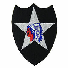 AMERICAN Army 2ND Infantry Division PATCH INDIAN HEAD - WW2 Repro Warrior WWII