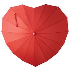 Heart-Shaped Umbrella Sized for Two - Red