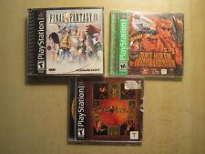 3 PS1 Games Duke Nukem A Time to Kill Final Fantasy IX DarkStone Playstation 1