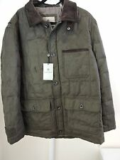 NWT $325-Rainforest Down Filled Water Resist. Leather Trim Brown Jacket -XL