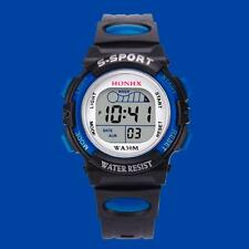 Waterproof Children Boys Kids LED Digital Sports Watch Alarm Date Wrist Watch I1
