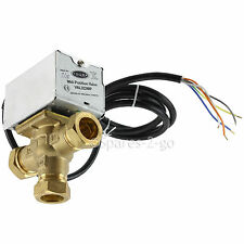 TOWER VAL322MP 22mm 3 Port Motorised Mid Position Valve Central Heating Control