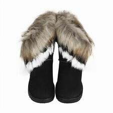 FASHION WOMAN WINTER WARM HIGH ANKLE SNOW BOOT RABBIT FUR SUEDE TASSEL SHOES LOT