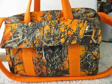 Orange True Timber Camo custom handmade Diaper Bag by EMIJANE free embroidery