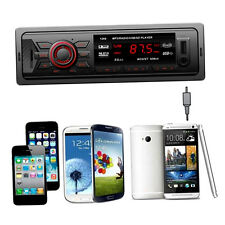New Bluetooth Car Stereo Audio 1 DIN In-Dash FM Input Receiver USB MP3 Radio AO