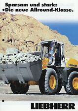 Prospekt Liebherr Radlader 2 03 2003 L 524 534 538 brochure wheel loader Germany