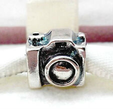 925 argento Sterling Charm Fotocamera cordone