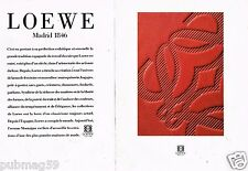 Publicité advertising 1989 (2 pages) Maroquinerie Cuir Loewe