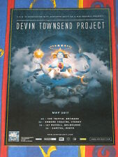 DEVIN TOWNSEND PROJECT  - 2017 Australian Laminated Tour Poster -  NEW
