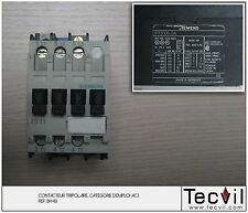 Contacteur tripolaire AC3 SIEMENS 3TF3100-0AM0 | Contactor 3 pôles