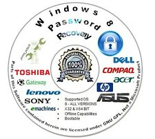 Password Recovery | Reset CD for Microsoft Windows 8 - Auto Boot Unlock Disc