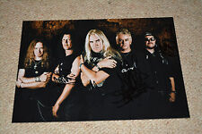 SAXON signed Autogramm In Person 20x30 cm komplette Band