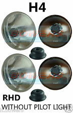 "7"" CLASSIC CAR SEALED BEAM HEADLAMPS HEADLIGHTS HALOGEN H4 CONVERSION *NO PILOT*"