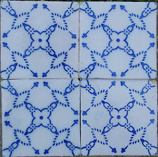 Antique Portuguese 4 -Tile Set - Portuguese Tile - Sec XIX - Hand Painted Tiles