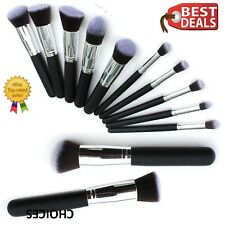 10pcs Kabuki Style Professional Make up Brush Set Foundation Blusher Face Powder