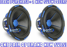 "2) Power Acoustik MOFO-154X 15"" 3000 Watt MOFO Dual 4 ohm Subwoofers Car Subs"