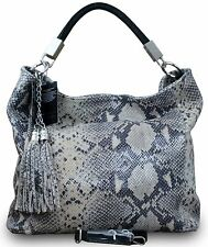 Made in Italy Luxe Femme Sac En Bandoulière Shopping Serpent Animal imprimé