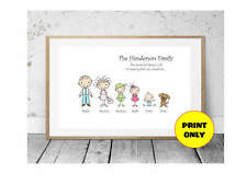 A4 Personalised Family Tree Surname Print - A
