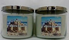 2 White Sand Bath & Body Works Scented Candle NET WT 14.5 Oz NEW!