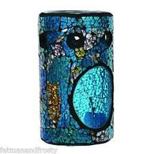 Village Candle Wax Melt Tart Burner Turquoise Crackle Mosaic