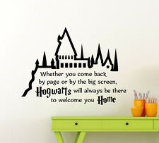 Harry Potter Wall Decal Hogwarts Quote Vinyl Sticker Kids Art Decor Mural 79ct