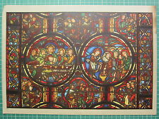 FRENCH CATHEDRAL STAINED GLASS WINDOW PRINT THE PASSION CHRIST SUPPER PHARISEES